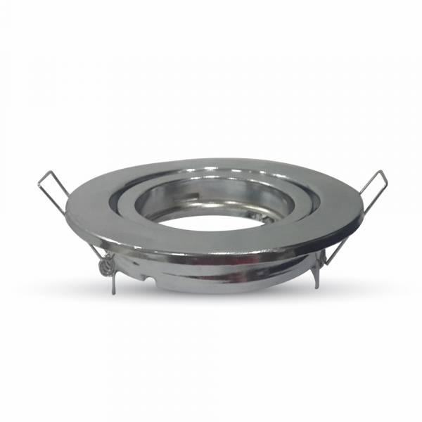Recessed spot GU10 round, adjustable, iron, chrome