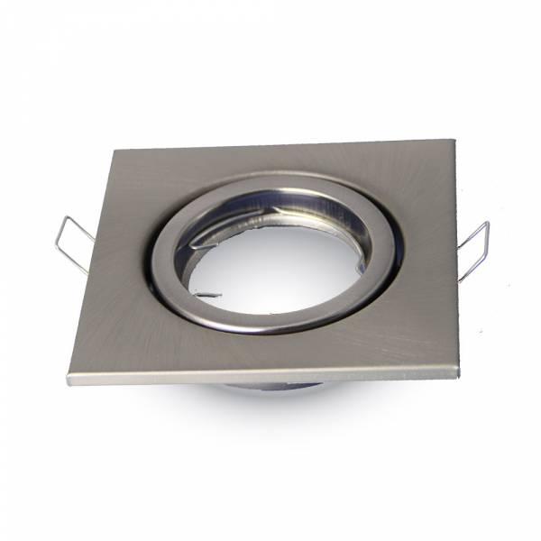 Recessed spot GU10 square, adjustable, iron, satin nickel