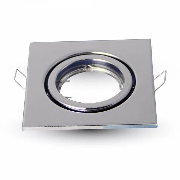 Recessed spot GU10 square, adjustable, iron, chrome