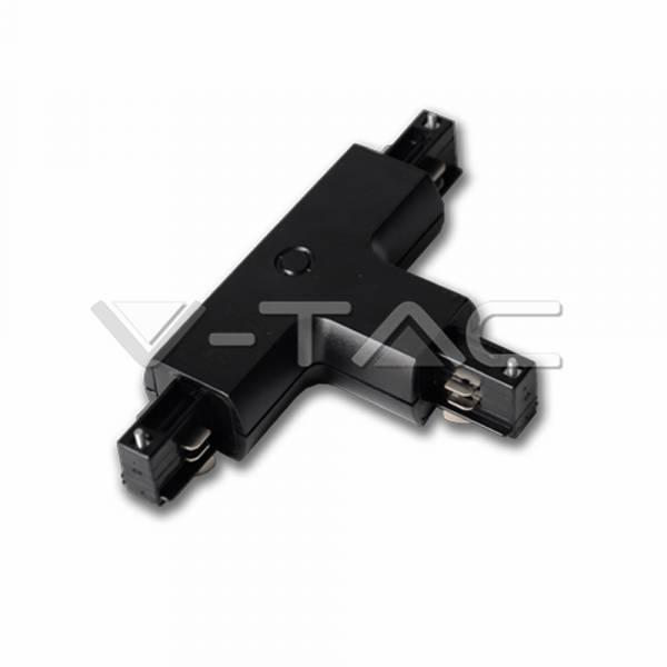 T-element for tracksystem series V-TAC, black