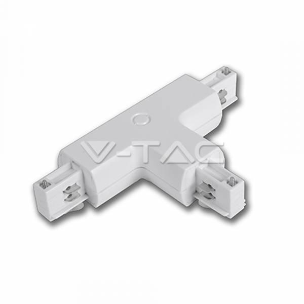 T-element for tracksystem series V-TAC, white