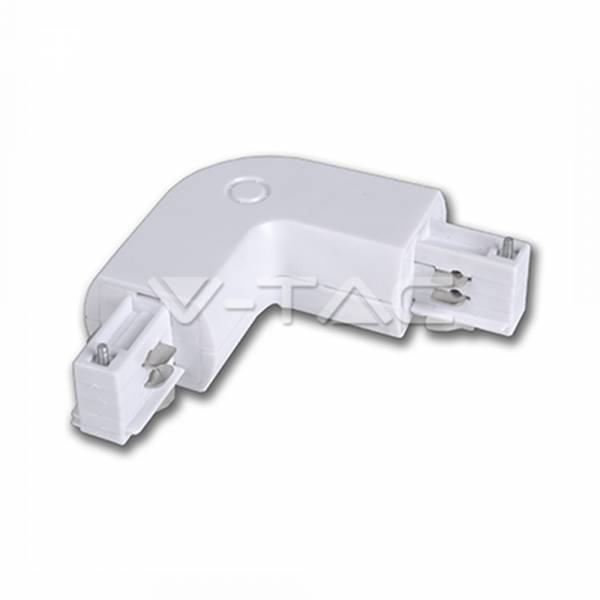 elbow for tracksystem series V-TAC, white