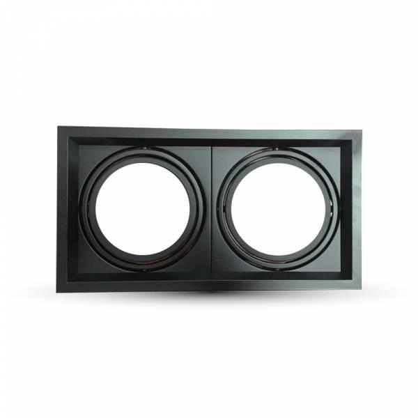 Recessed spot 2xAR111, black