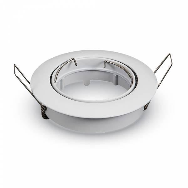 Recessed spot GU10 round, adjustable, zinc, white