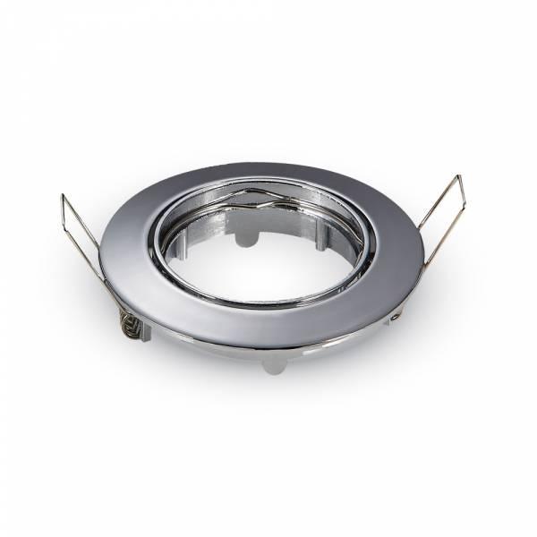 Recessed spot GU10 round, adjustable, zinc, chrome