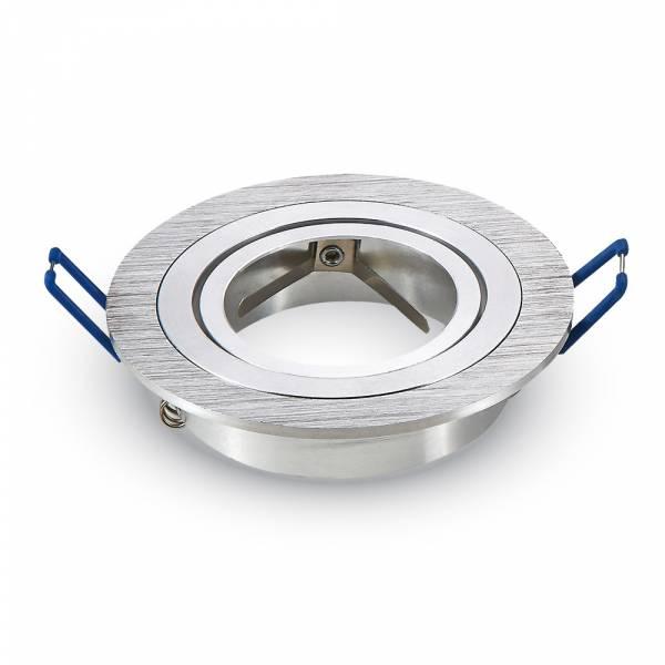 Recessed spot 1xGU10 round, brushed aluminium