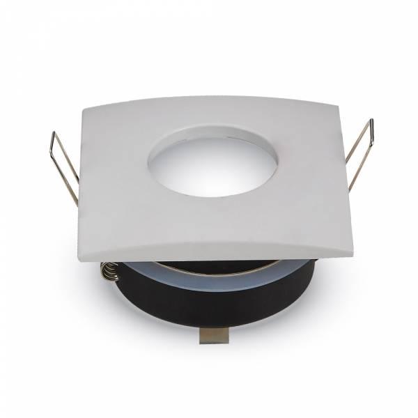 Recessed spot GU10 square IP54, white