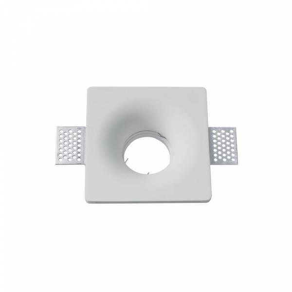 Recessed spot GU10 square, plaster, white