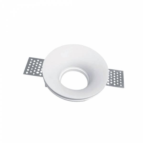 Recessed spot GU10 round, plaster, white