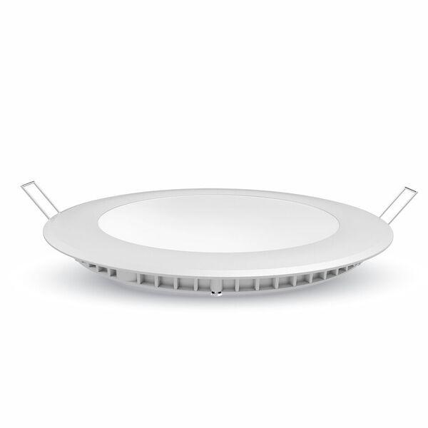 LED Premium Panel Downlight 12W - round 3000K, 1000lm, 120°