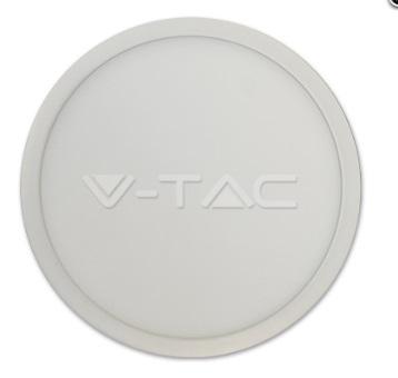 LED Surface Panel 12W 830, 900lm, Round, IP20, white