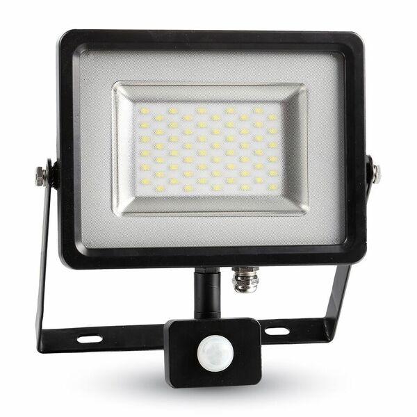 LED Floodlight 50W black/gray 4500K, 4000lm, IP44, Sensor