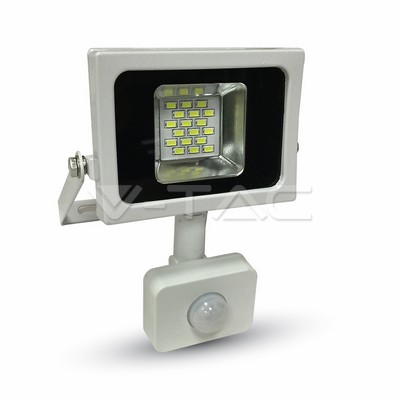 LED Floodlight 10W white 4500K, 800lm, IP44, Sensor