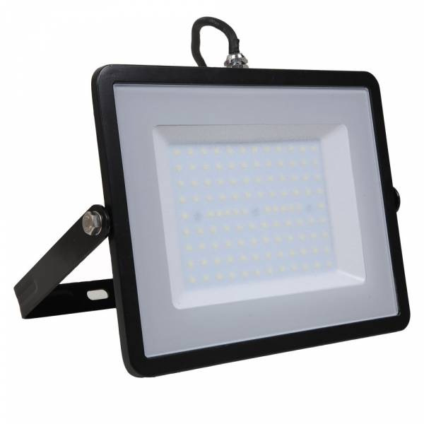 LED Floodlight 100W 8000lm 3000K 220-240V IP65 100° black
