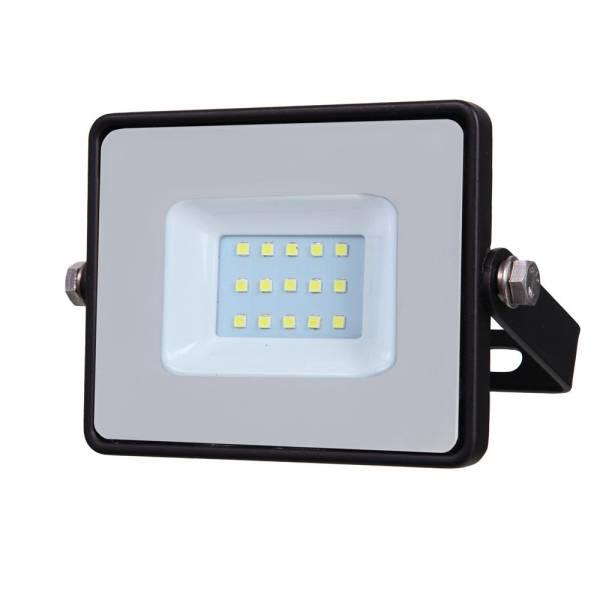 LED Floodlight 10W 800lm 6400K 220-240V IP65 100° black