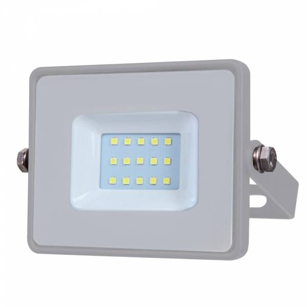 LED Floodlight 10W 800lm 4000K 220-240V IP65 100° grey