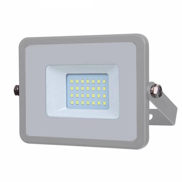 LED Floodlight 20W 1600lm 6400K 220-240V IP65 100° grey