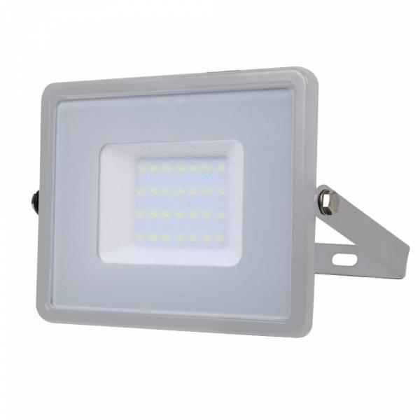 LED Floodlight 30W 2400lm 6400K 220-240V IP65 100° grey