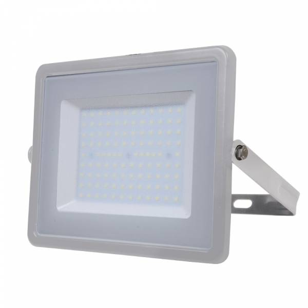 LED Floodlight 100W 8000lm 6400K 220-240V IP65 100° grey