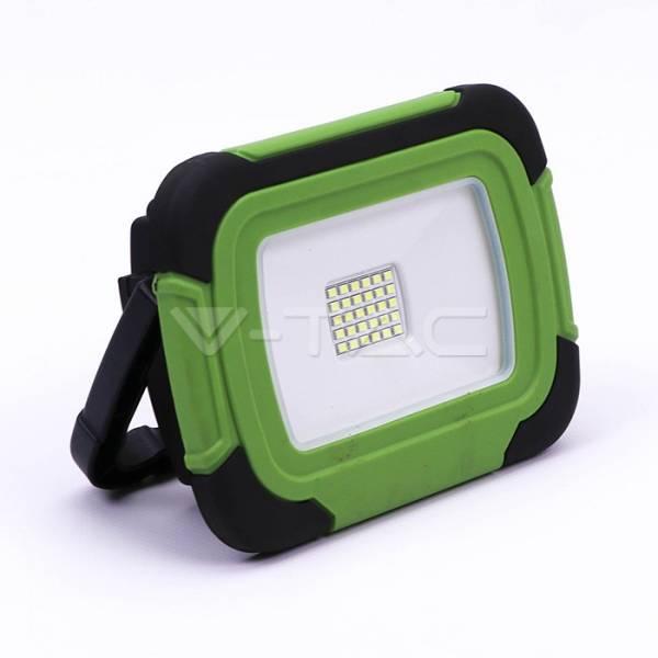 LED Floodlight 20W Green Body 6400K,1400lm, Rechargable,IP44