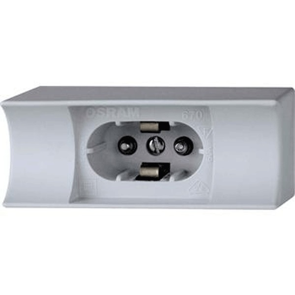 RAL1 Holder for socket S14d, for lamps with 1 socket, grey