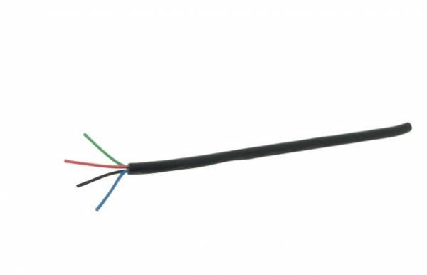 Double-isolated cable RGB 4-polig 0,5mm² Black