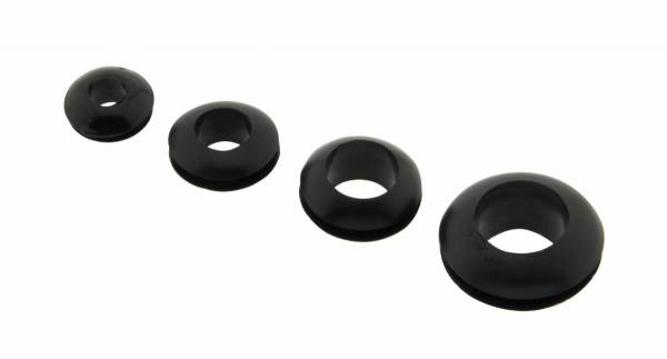Gummi cable gland black mounting hole 10mm inside 8mm