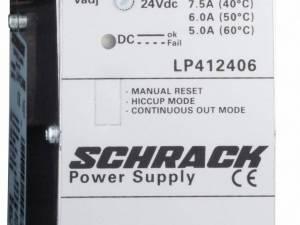 Single-phase Power Supply pulsing, 230VAC/24VDC, 6A at 50°C