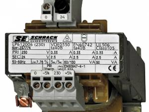 Single Phase Control Transformer 230V/24V, 250VA, IP00