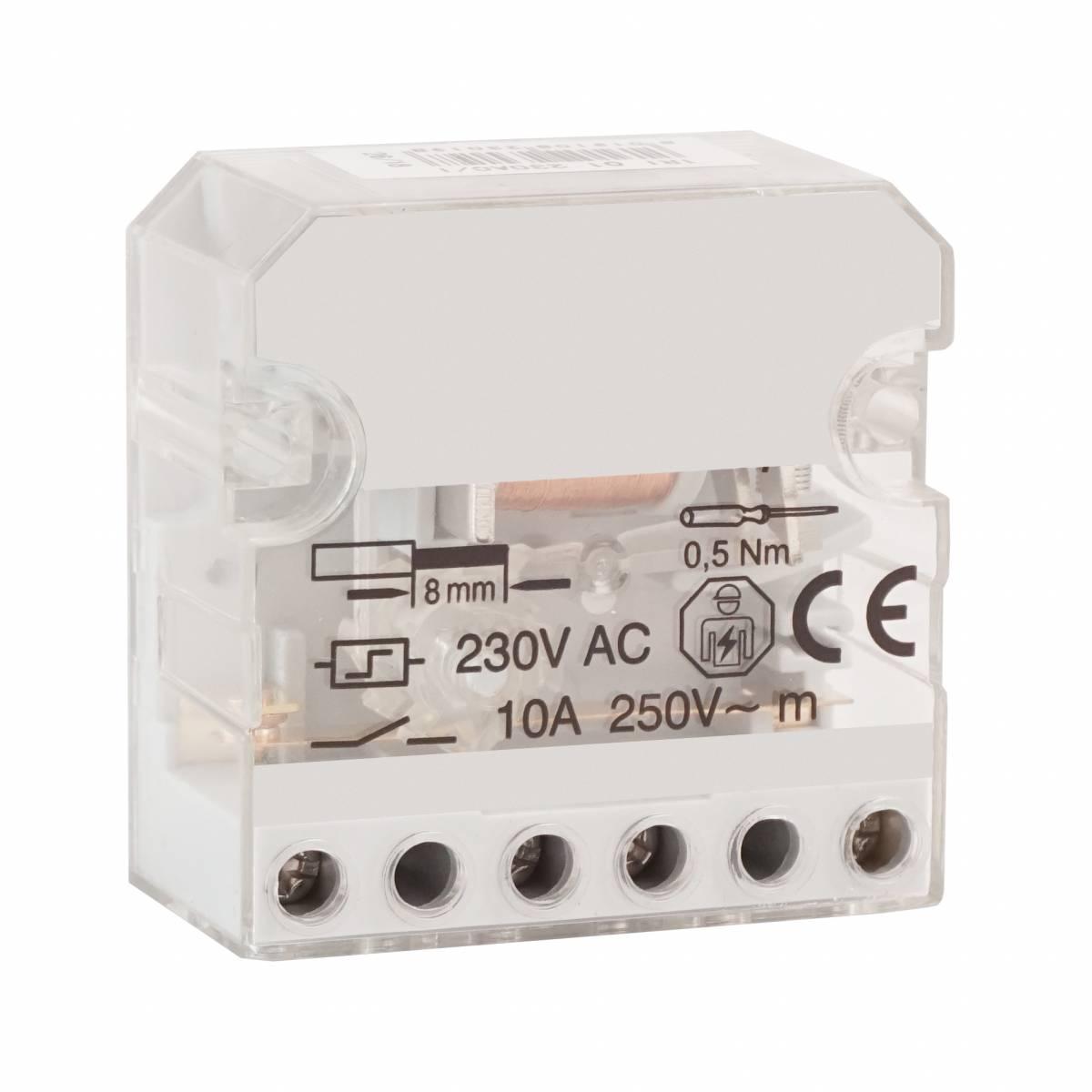 Impulse Relay, 230VAC, 1 Contact, 10A