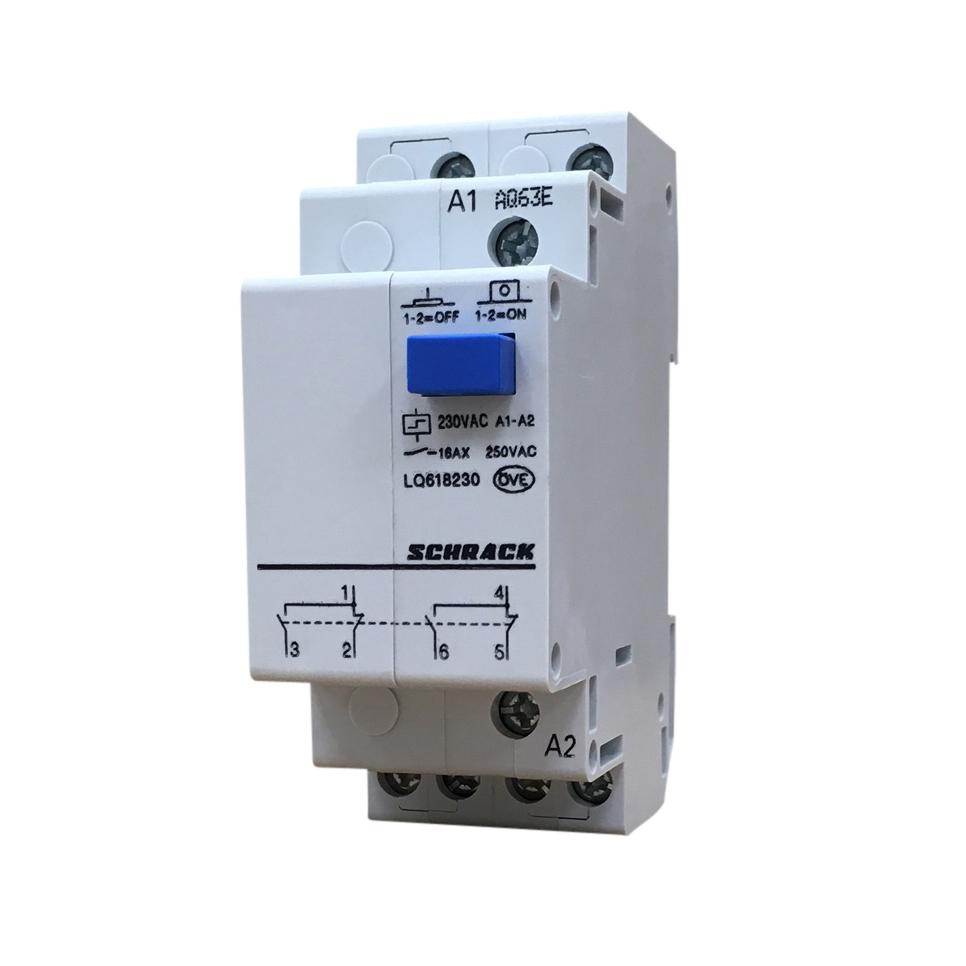 Remote switch, 2 C/O, 230VAC