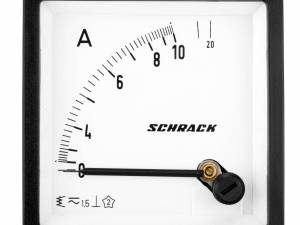 Ammeter, 72x72mm, 10A, AC, Direct measuring