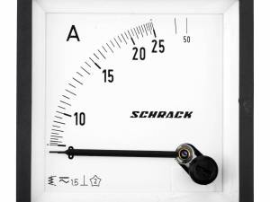 Ammeter, 72x72mm, 25A, AC, Direct measuring