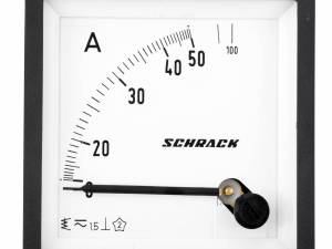 Ammeter, 72x72mm, 50A, AC, Direct measuring