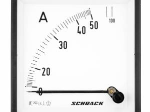 Ammeter, 96x96mm, 50A, AC, Direct measuring