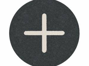 """Button plate flat with inscription, black with white """" + """""""