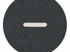 """Button plate flat with inscription, black with white """" - """""""