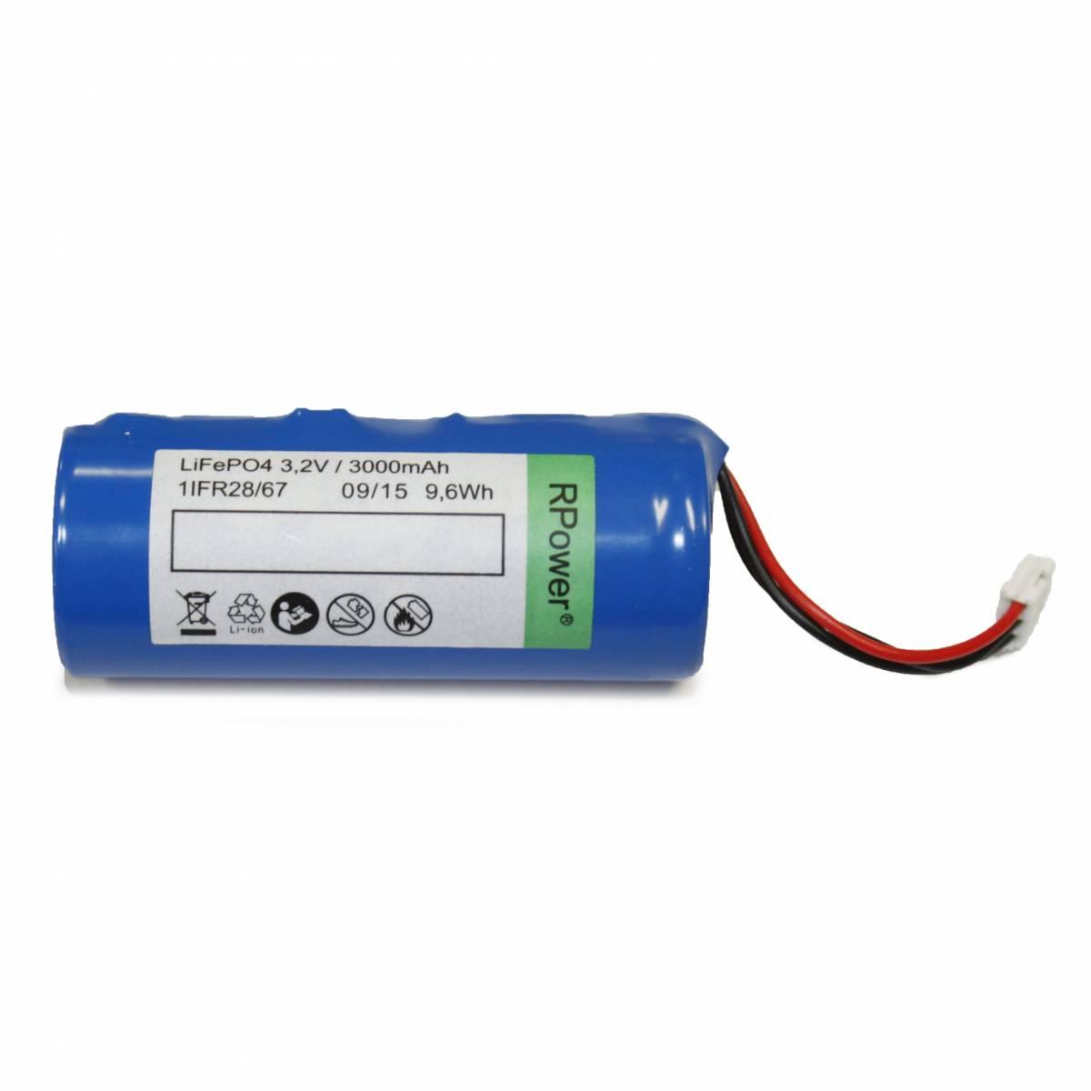Accu 3,2V 3,0Ah LiFePO4 for LED luminaire KM,KSC,KMB,ASM,ZAW