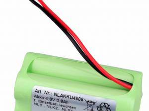Accu 4,8V 0,8 Ah for NLK1.., NLK2.., NLK3..,  NLS1..