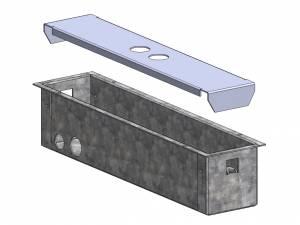 Concrete plaster box for emergency luminaire Design KB