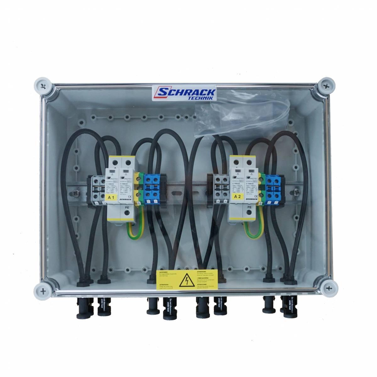 PV-overvoltage protection box 1000Vdc, for 2-MPP tracker