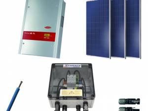 PV-Offer set 3kW: 10Modules,1 WR,ÜA,100m cable,MoSys brick