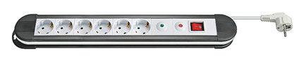 PDU with Surge Protector, 6 Outlets Schuko, 16A, 1.4m cable