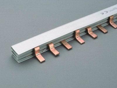 Comb bar, 3-pole, bridge type 130 A, pitch 27 mm, 1 m long