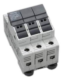 Holder for cylindrical fuse links 32A 690V 3-polig