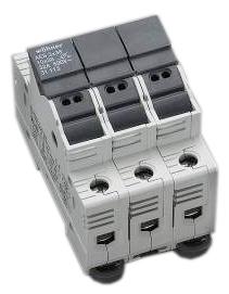 Holder for cylindrical fuse links 100A 690V 3-polig