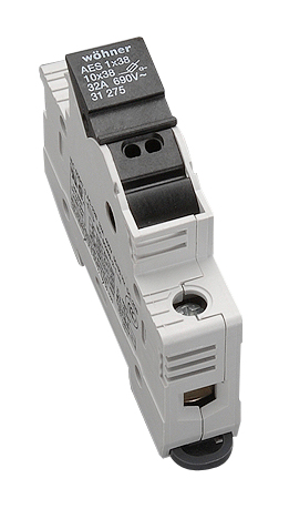 Holder for cylindrical fuse links 32A, 1-polig, 690V