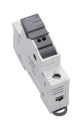 holder for cylindrical fuses 10 x 38, 1-pole, 1000VDC w. LED