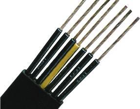 PVC Flat Cable for Medium-Level H07VVH6-F 4G25 black