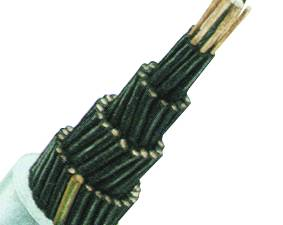 YSLY-JZ 5x1 PVC Control Cable, fine stranded, grey